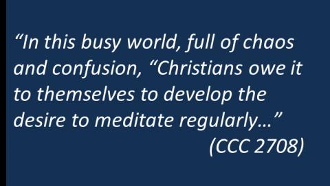 Catholic meditation for children