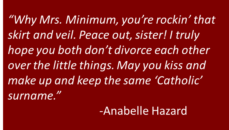 The Case of Mr. Holier Than Thunderbolt Versus Mrs. Barest Minimum Catholic