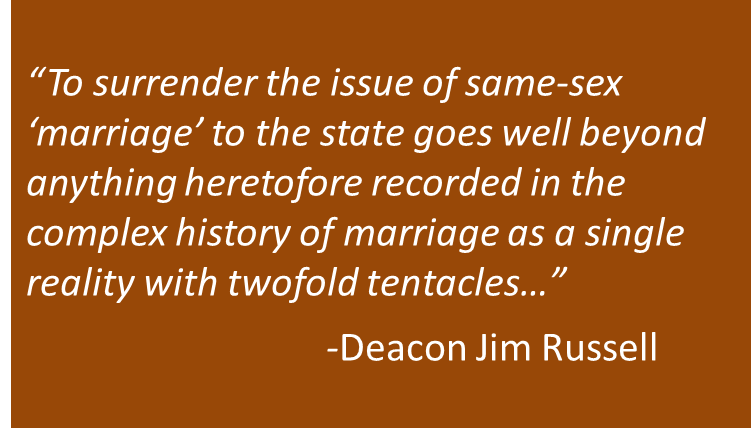 Why Not Surrender on Same-Sex 'Marriage'? Because Consent Makes Marriage