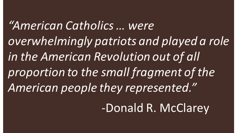 Catholics in the American Revolution