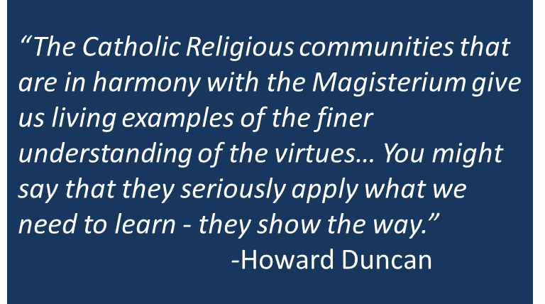 Religious Communities: Because They Show The Way