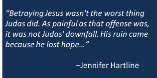 Peter or Judas: Hanging or Hope?