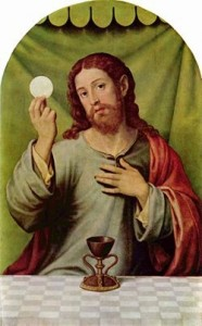 Jesus and the Eucharist and Holy Chalice of Valencia