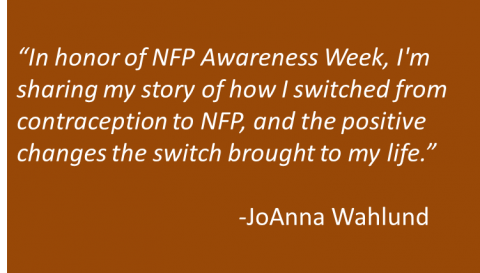 JoAnna Wahlund - NFP Switch