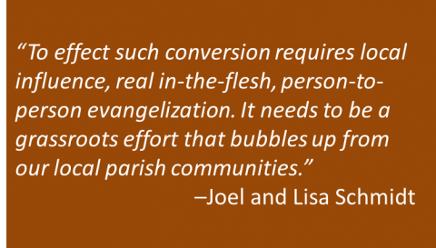 Joel and Lisa Schmidt - Parish Change
