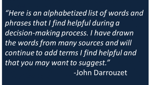 John Darrouzet - Vocabulary