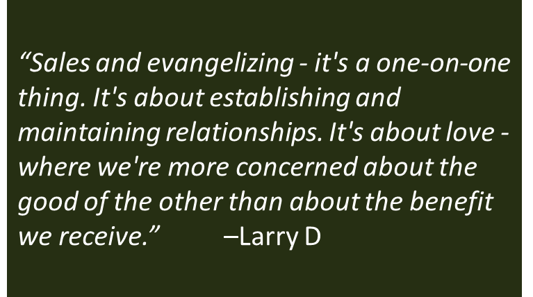 Comparing Sales And Evangelizing