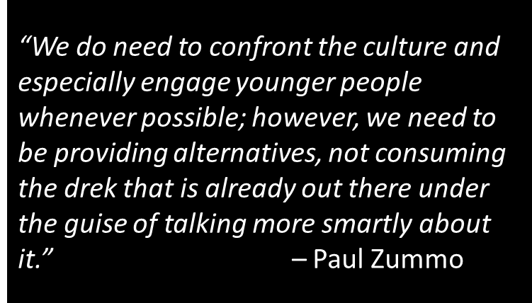 Confronting the Culture Doesn\'t Mean Embracing It