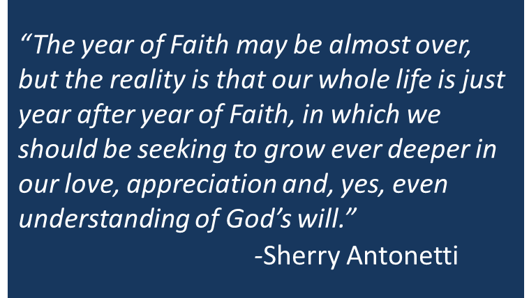 The Year of Faith is Almost Over